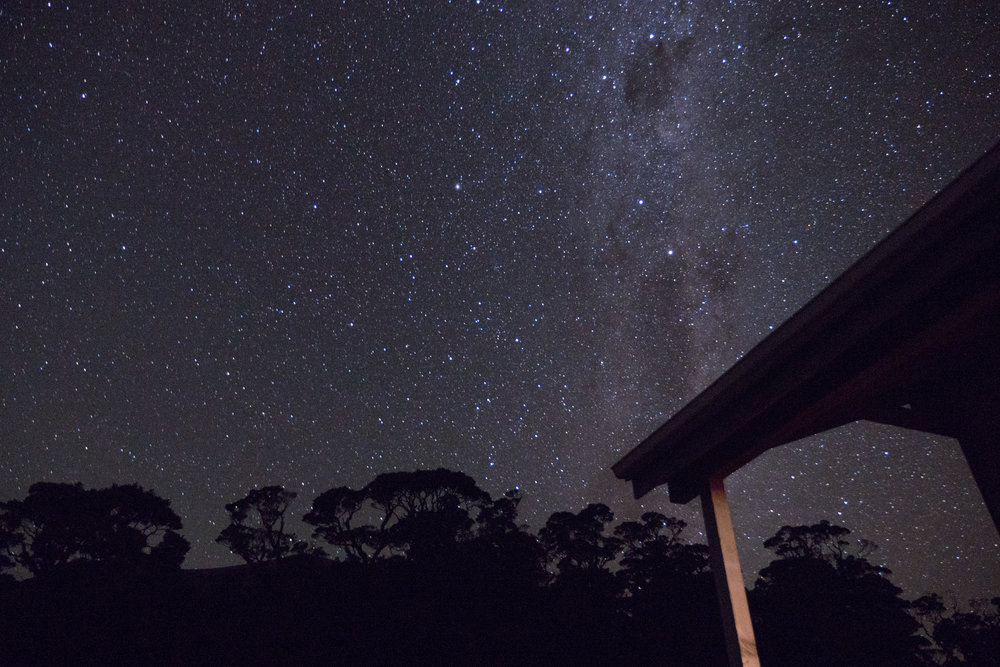 Lyell Hut at Night