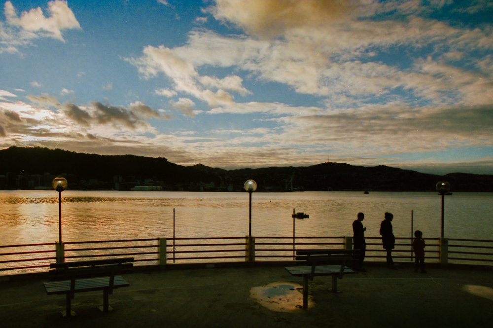 Oriental Bay, Wellington. 35mm Ektar 100 film, Canon EOS-1 and 24mm f1.8 Sigma lens