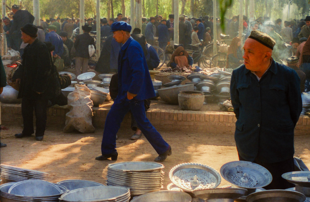 Kashgar Market, Xinjiang, 1989.