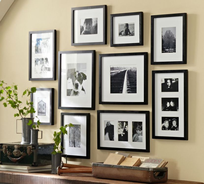 Photo From Pottery Barn Blog Article:  6 WAYS TO SET UP A GALLERY WALL