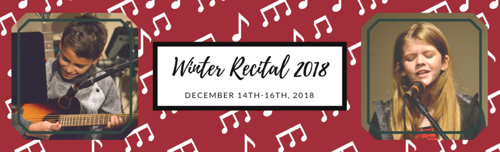Congratulations to all of the students that performed in this year's Winter Recital! We had over 230 students perform over the course of 9 recitals! Everyone put so much time and effort into their pieces and the work paid off. Everyone sounds great! Now it's time to start planning for our Spring Recitals!
