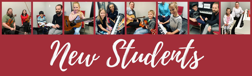 Guitar:  Stella C., Dasha B., Rylan G., Ryan M., Joseph M., Sienna S., Caden W., Aieran M., Finley B., Clara H.   Piano:  Cassie B., Bryce P., Jasmine T., Kaeden V., Taylor B., Matilda R., Ramona R., Brady S., Sawyer S., Jett H., Cody Q., Carson P., Araya S., Kate W., Peter G., Ana P., Ben A., Jessica M., William A., Brooke A., Rigoberto V., Liam B., Aileen T., Zoey E., Lucas S.   Violin:  Karolina E., Kaeley W., Lilly S., Sailor S., Eugene B.   Saxophone:  Alex E.   Drums:  Carson M., Marlana M., Joe M., Cooper T.   Bass:  Christopher C., Kai A., Orray S.   Ukulele:  Laurie R.   Voice:  Lauren A., Aurora S., Jeremy L., Aspen M., Andy H., Mercedes M., Jessica A., Lidia H.,    Some of our new students didn't want to choose just one, so they're reaching for the stars with multiple instruments:  Blake W. - Piano, Viola, and Violin, Kyra W. - Piano, Viola, and Violin, Isaac M. - Drums and Guitar, Alison S. - Guitar and Voice, Malaya S. - Guitar and Voice, Peyton L. - Piano and Voice, Nikki S. - Voice and Piano, Nate H. - Drums and Voice