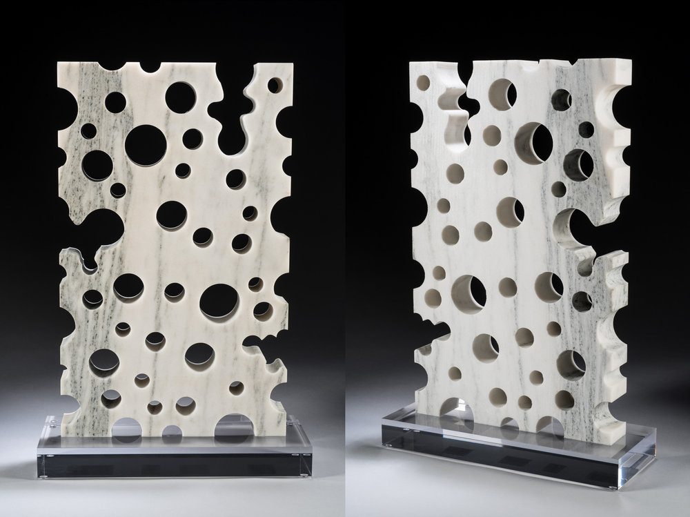 MARBLESCAPE marble and acrylic, 20 x 13 x 5 in. | $7,800