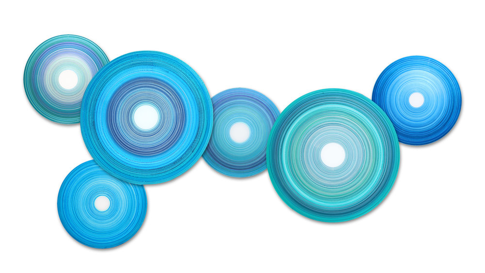 Aria Aqua Disc Collection | acrylic on acrylic
