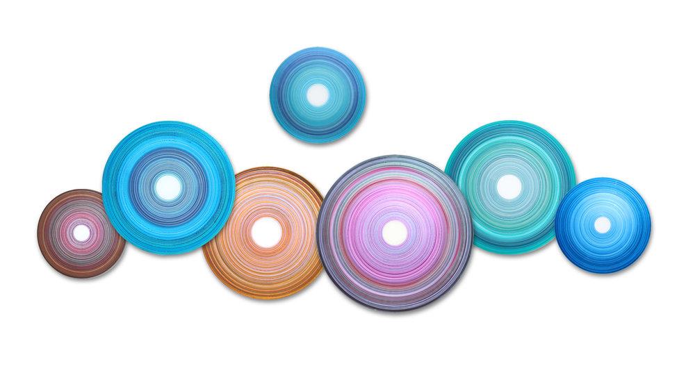 Aria Chroma Disc Collection | acrylic on acrylic