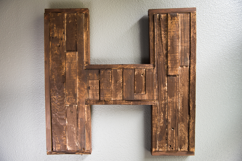 Commissioned Pallet-Wood Letter