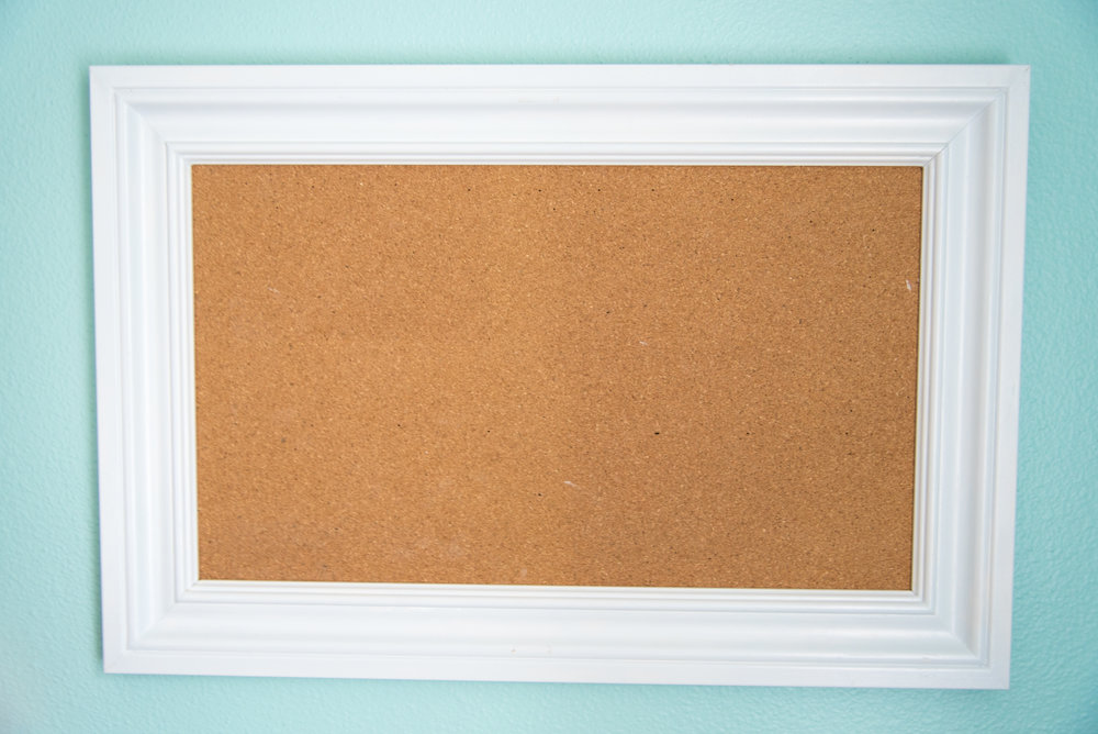 Corkboard for the kid's room