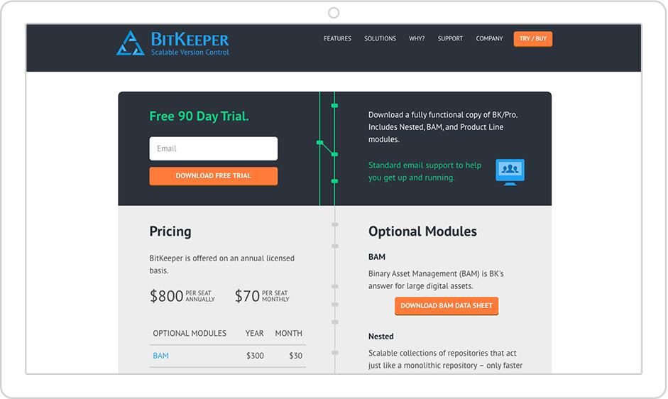 BitKeeper | Branding & Website...
