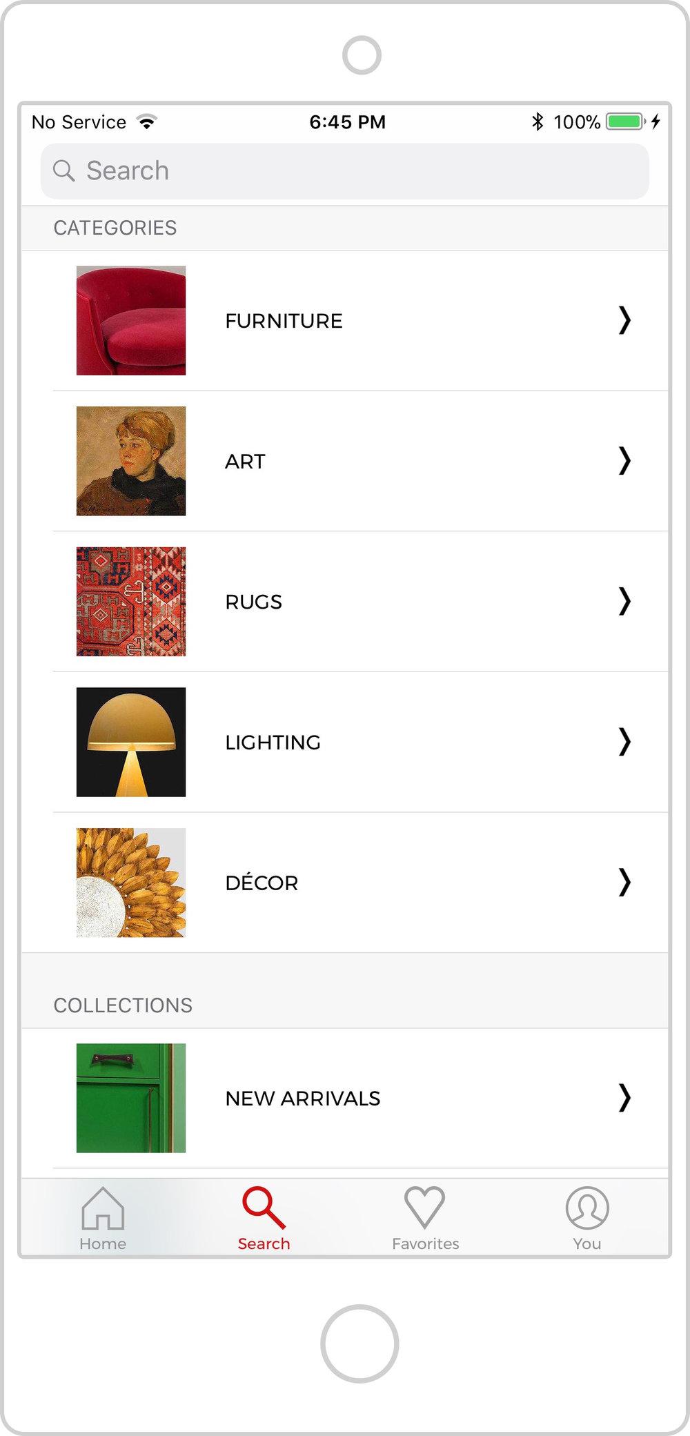 DECASO Search Screen