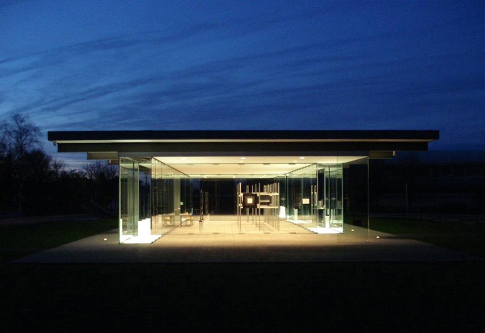 glaspavillon hans schmitz haus rheinbach two men exhibition o t t o. Black Bedroom Furniture Sets. Home Design Ideas
