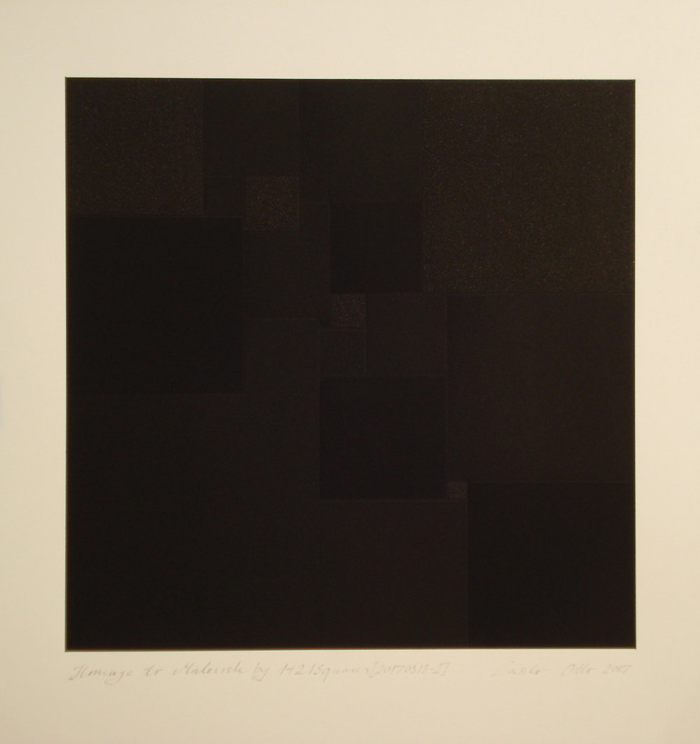Hommage à Malevich by 1+21 Squares [20170313-2], 2017, pigment, acrylic on paper, 35.5x35cm_kB.jpg