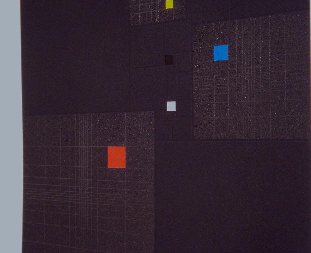 Squares in Square + Fibonacci-sequence [20170313-2], 2017, pigment, acrylic on paper, 35.5x35cm3_kB.jpg