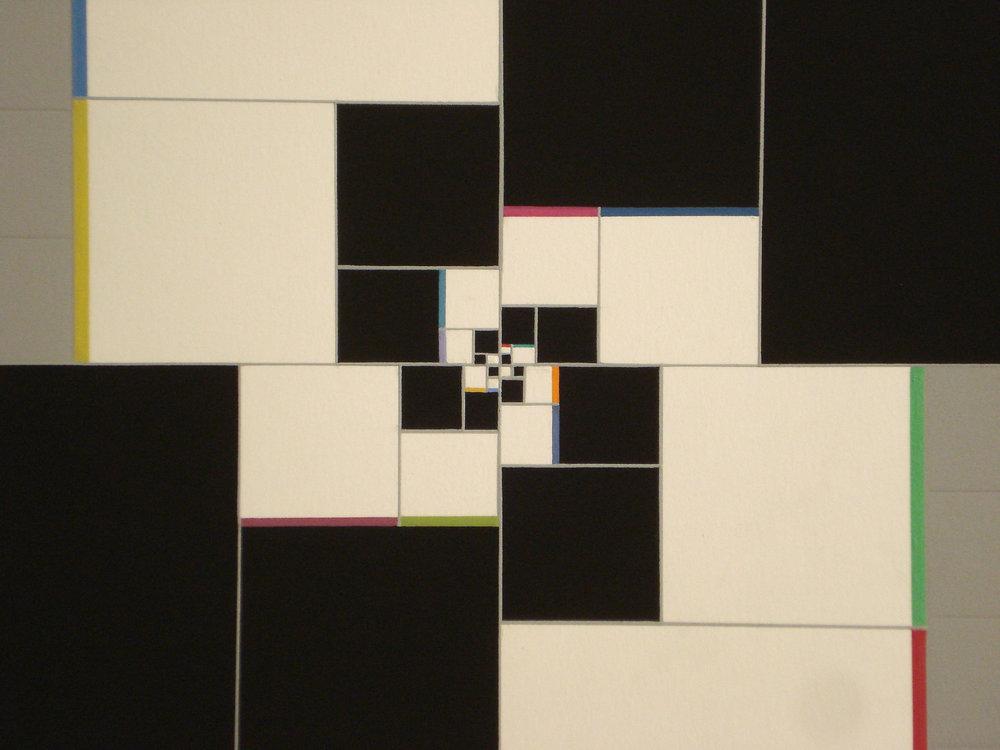 Spiral by Squares – Fibonacci-sequence [20170314], 2017, gouache on paper, 35.5x35cm3_kB.jpg