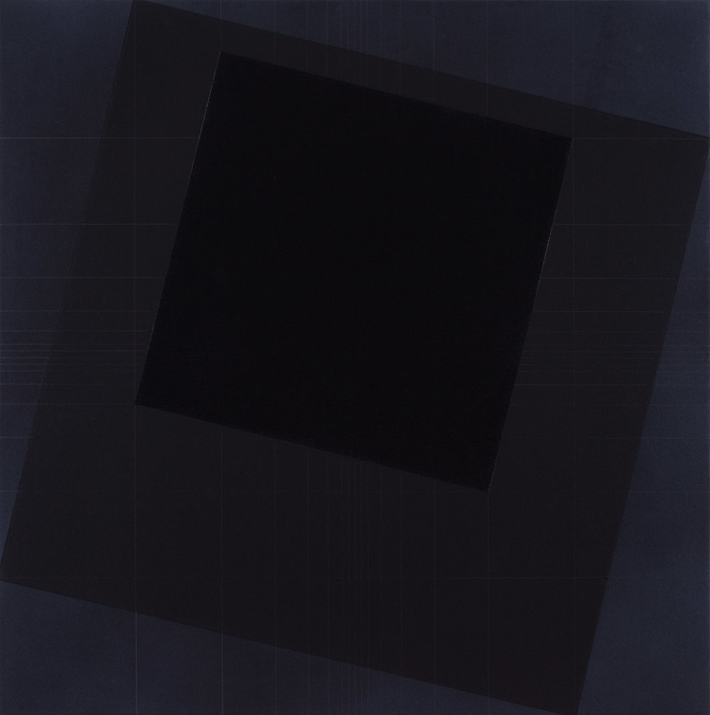 Homage to the Black Square [20170515], 2017, acrylic on canvas, 23 5/8 x 23 5/8 in. [60x60cm]