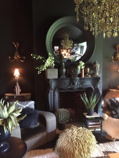 Gratuitous photograph of Abigail Ahern's living room