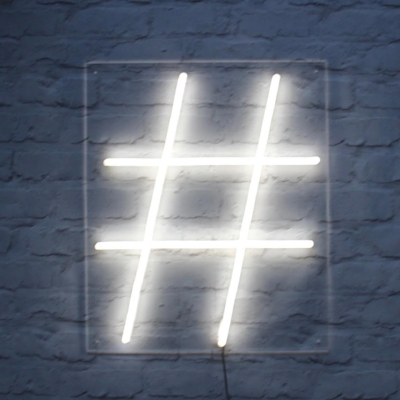 If you don't hashtag, you're going nowhere.  Neon by  @bagandbones .