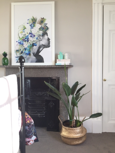 Favourite  Shaylene Reynolds  print goes nicely with the Bird Of Paradise which is actually about to flower.