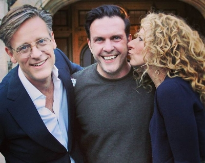 Oliver with the GIDC judges, Daniel Hopwood and Kelly Hoppen.