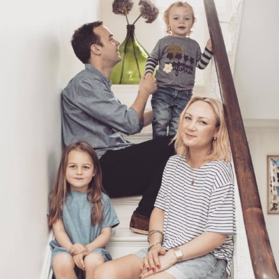 Wendy and her gorgeous family.  Photography by  David Cleveland .