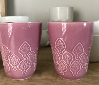 How could I resist these IKEA pink mugs? The Dime Bars had gone by 7.30 pm.