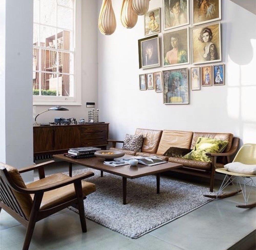 Jamie Theakston 's mid century sitting room. Photograph courtesy of  Paul Massey .