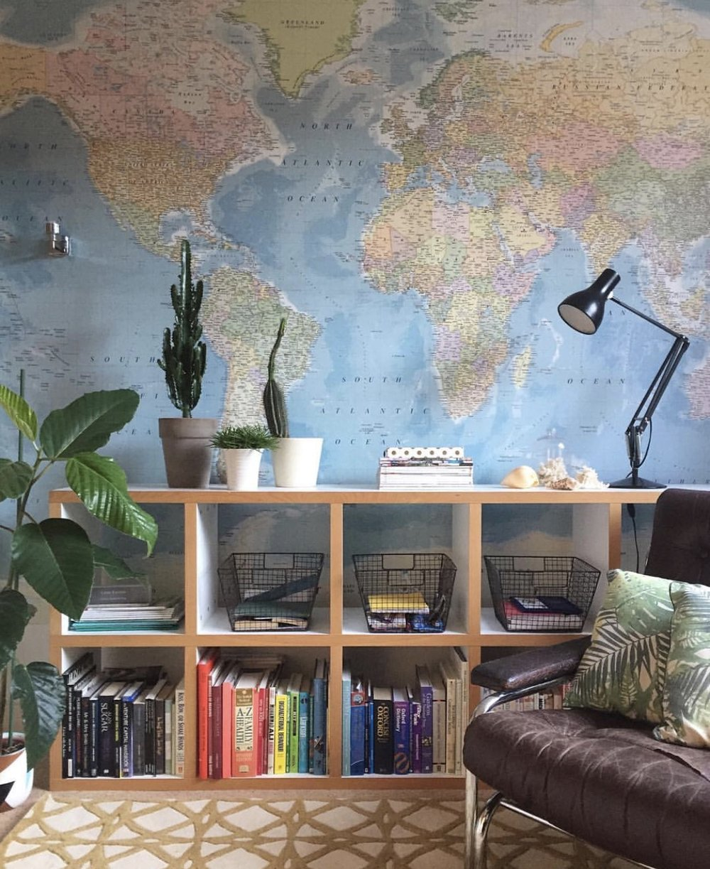 lisa dawson\u0026nbsp;wallpaper from b\u0026amp;q world map mural