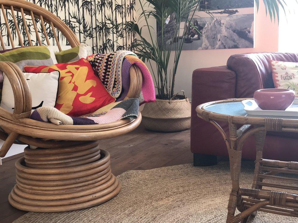 Multi tasking bamboo furniture.