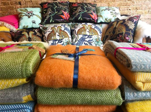Featuring Ardmore Design Cushions, sourced by Rosie and Sophie for the collection.