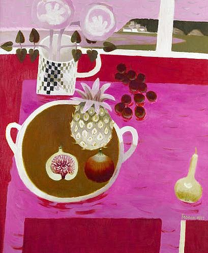 Mary Fedden, Still Life with Pineapple and Figs 1987