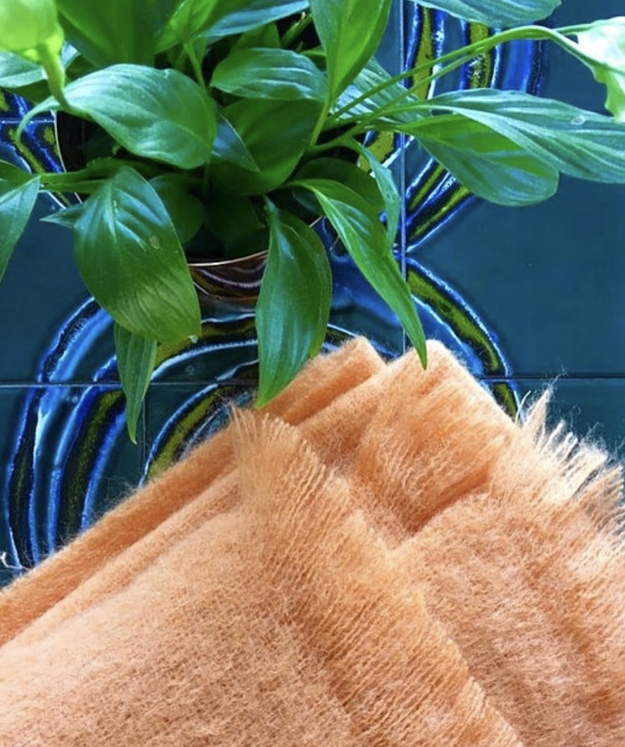 Orange Mohair Atlantic Blanket  £90