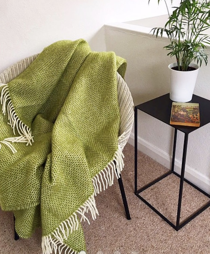 Green Honeycomb Atlantic Blanket  £60