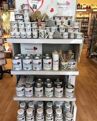A stockist shelf filled with Frenchic products.