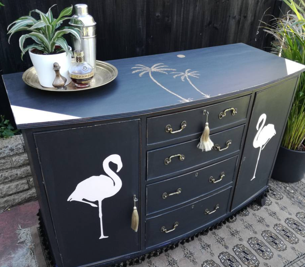 Perfect upcycling transforms this old dresser.  Sophie of Bourjois Biscuit.