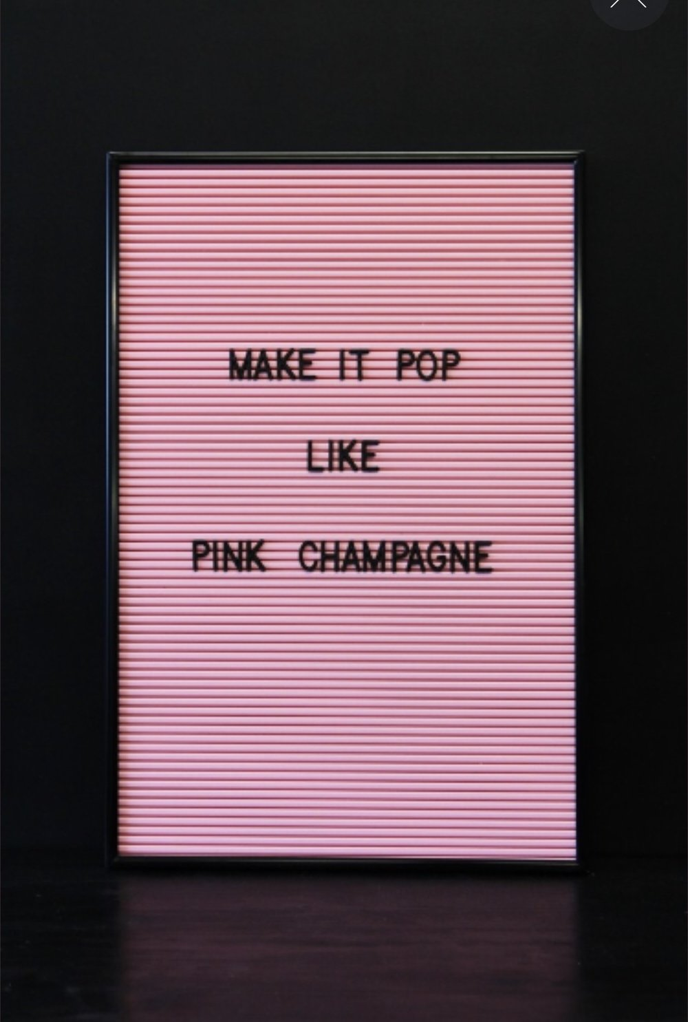 3.   Cinema Style Letter Board - Pink   £45.  Love this twist on the standard black and white.  So pretty!