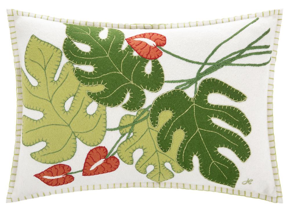 Tropical Cheese Plant Cushion , Jan Constantine at Amara £86