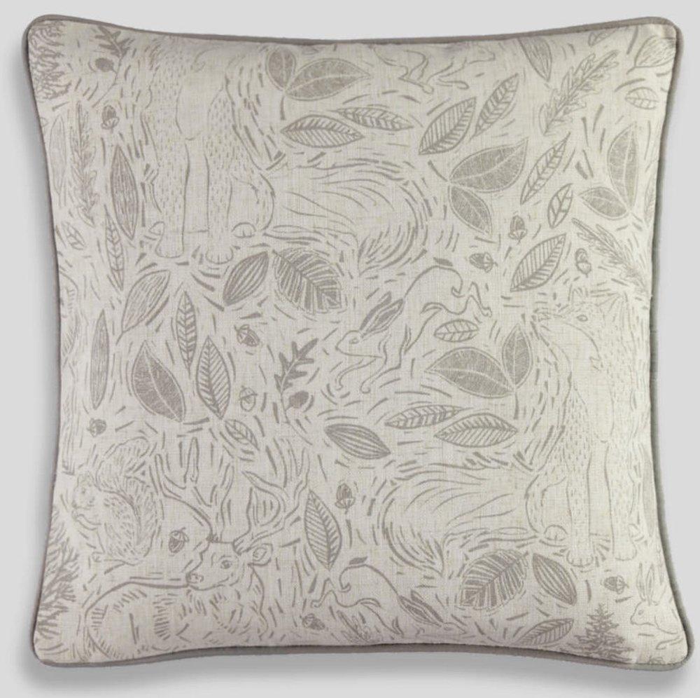 Linocut Animal Cushion , Matalan £8