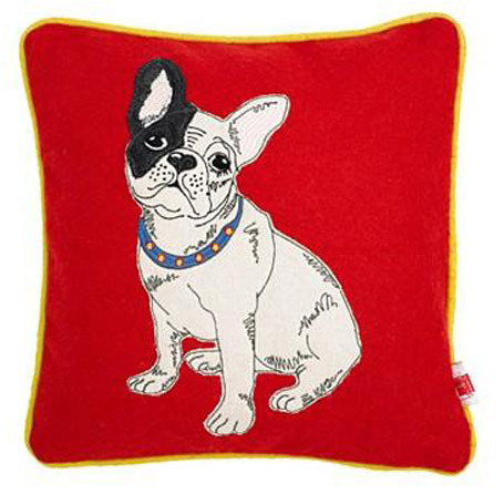 The love of Buddy's life. The Ben De Lisi bulldog cushion.