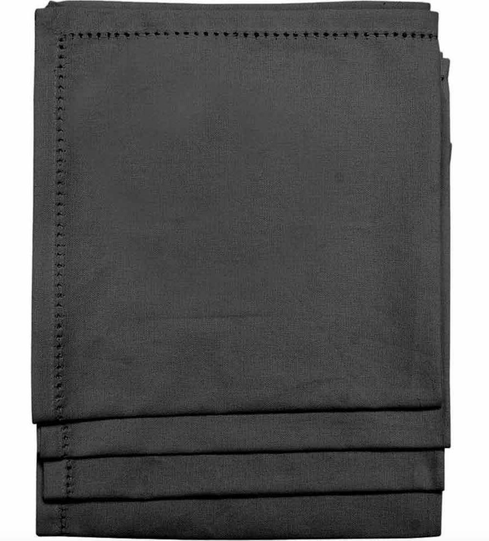 Black Cotton Fabric Napkin, Tesco £9.99