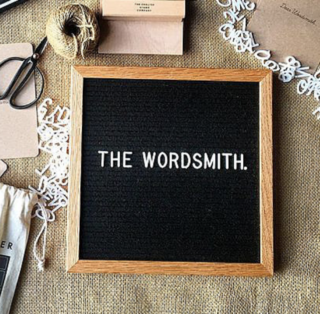 List your drinks menu on the  Wordsmith  from Mandrawer, £35