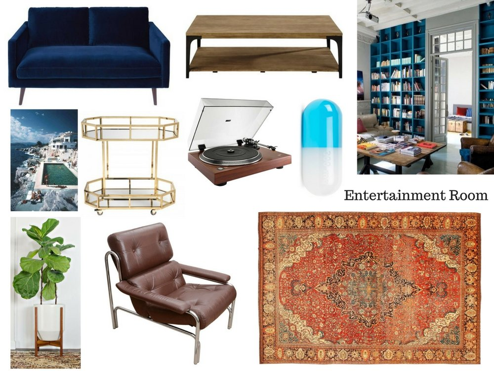 My moodboard with all my ideas for the room.