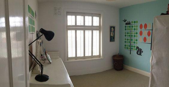 My forward thinking, cutting edge design baby's room. Jokes