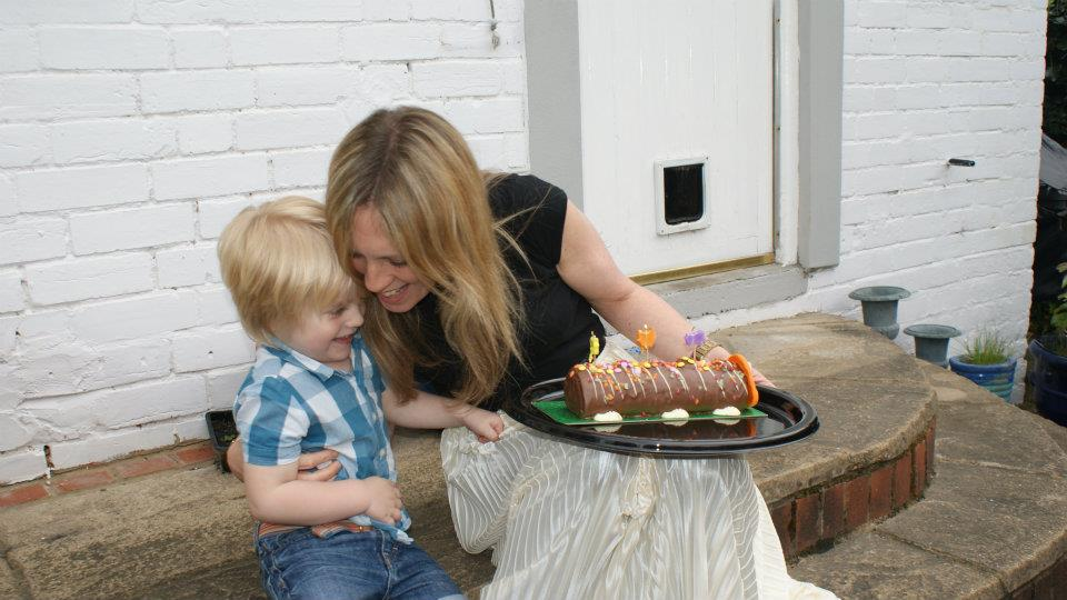 Leo's third birthday, a week after I was diagnosed. Can't beat an M&S Caterpillar cake.
