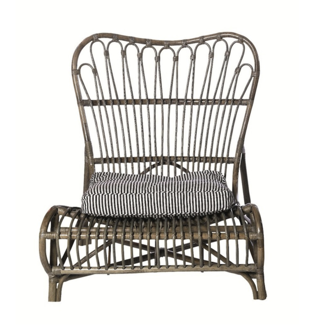 Lacquered Walnut Rattan Chair, Alexander & Pearl £245