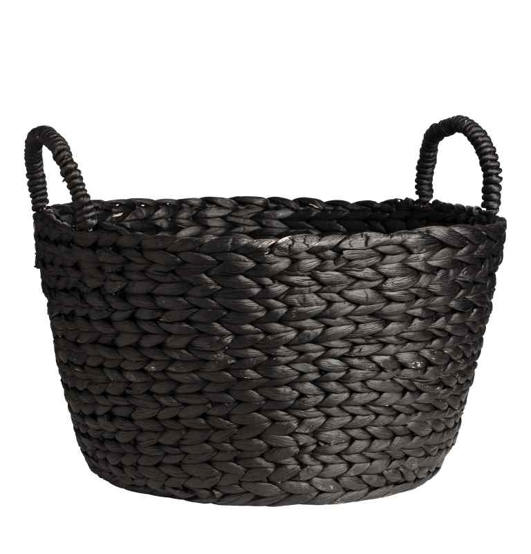 Round Water Hyacinth Basket, HM Home £24.99