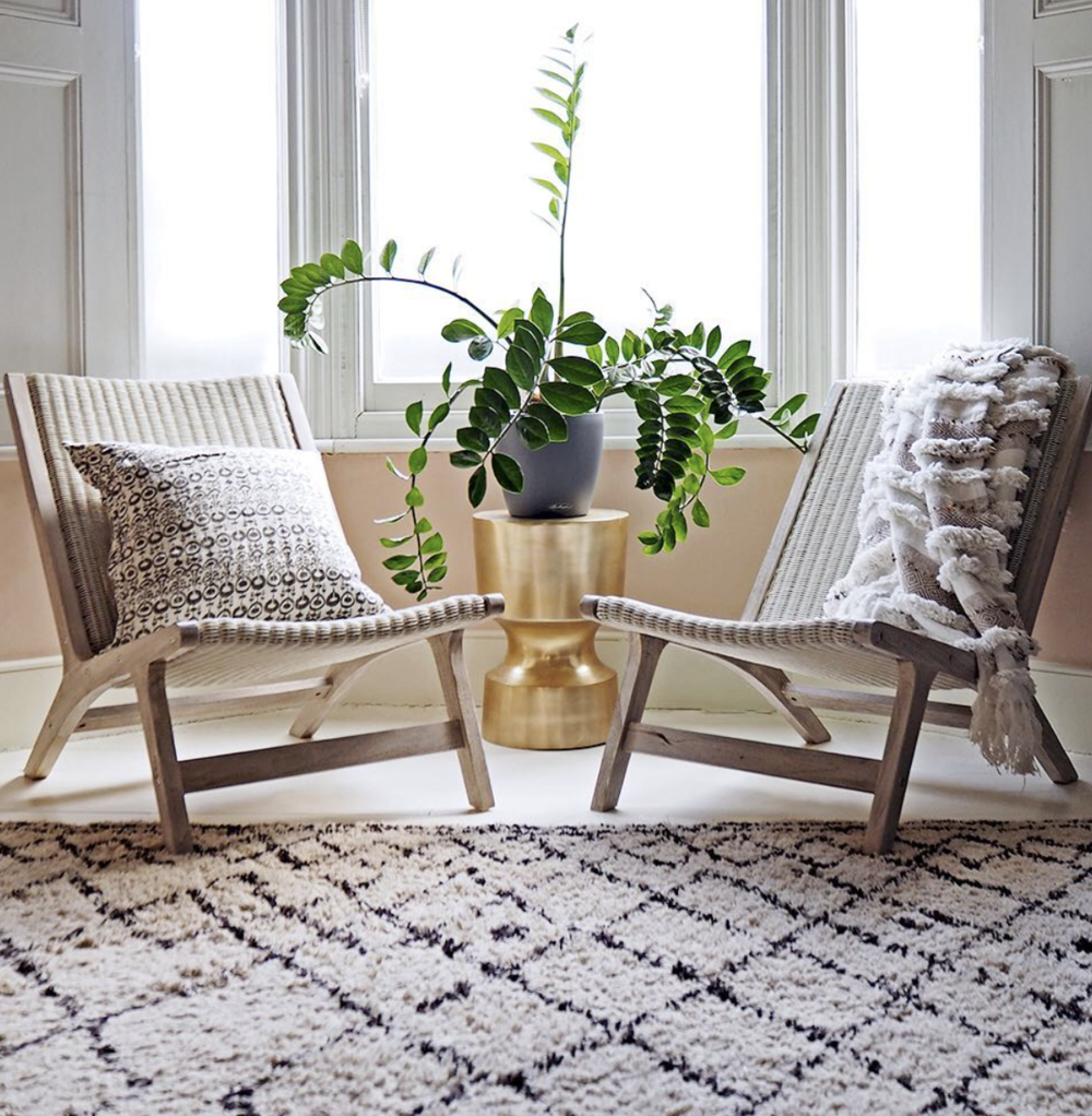 Bianca Hall mixes rattan with glam.