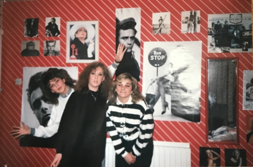 Even in the 80's, I was a fan of the gallery wall.  And backcombed hair.