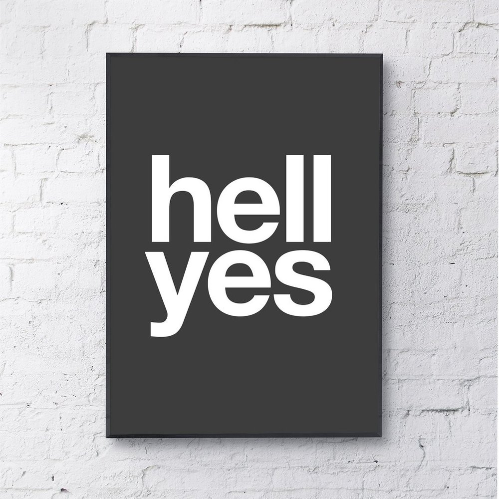 Gayle Mansfield Designs 'Hell Yes' - £20