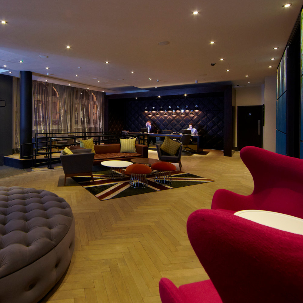 The super cool reception area.  Photograph courtesy of Malmaison.