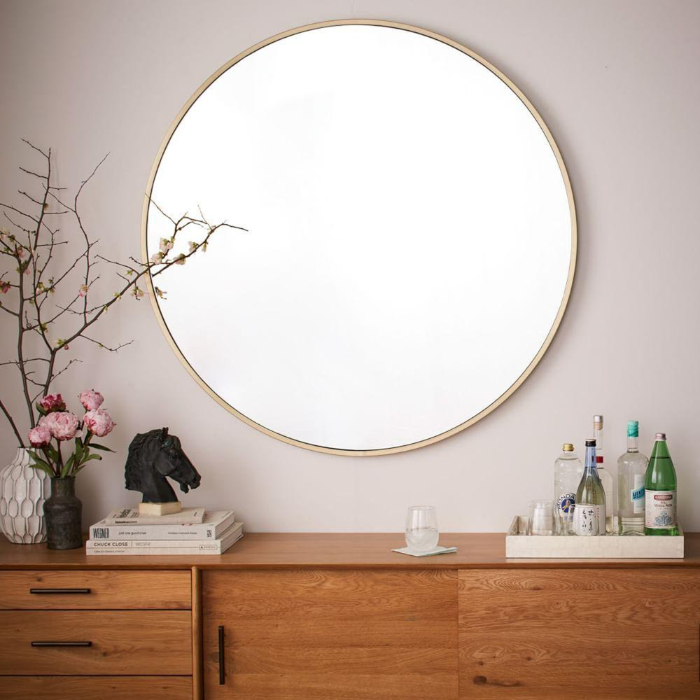 Metal Framed Oversized Round Mirror , West Elm £499