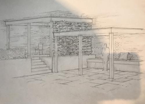 The new garden design.